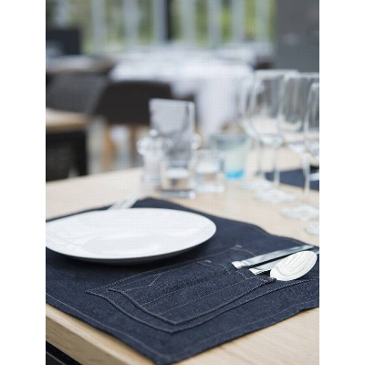Chaud Devant Placemat Blue Denim (CHA808)