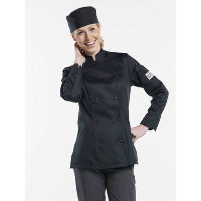 Chaud Devant Chef Jacket Lady Comfort Black (A063017)